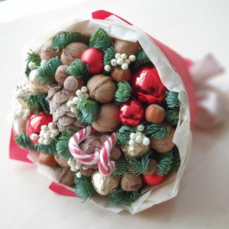 Букет новогодний Алый