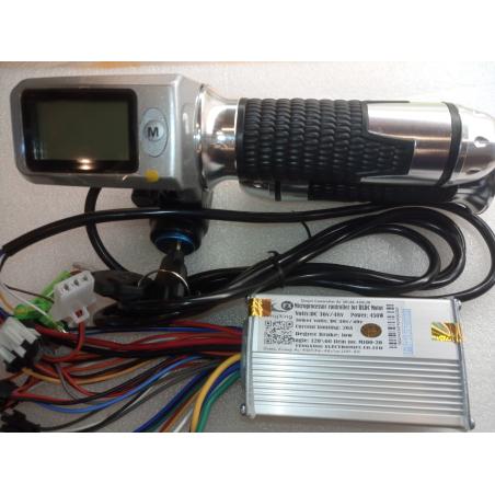 Контроллер Ai-450\20\100-20; 36/48 вольт, 450 ватт+ Led монохромный дисплей ручка газа для  электровелосипедов, электросамокатов