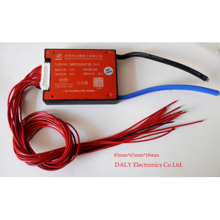 BMS  DALY Electronics Co.Ltd. герметичная 48 вольт 14s(58.8 вольт)  50ампер