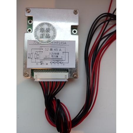 BMS 12 серия; 36 вольт, 45 ампер  LiFePO4 для литий-железо-фосфатных аккумуляторов