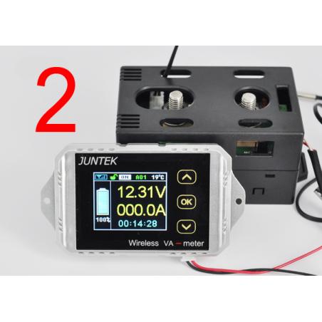 Двухсторонний вольтамперметр с беспроводным блоком управления JUNTEK VAT-1100. 100 вольт -100 ампер