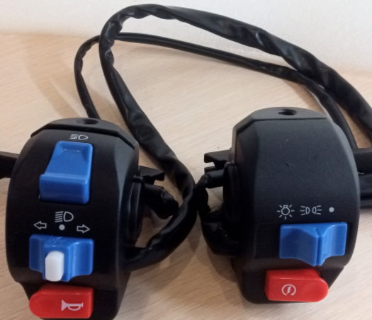 Блок переключателей (пульт) +ручка тормоза с датчиком. правый и левый, для электроскутеров, электросамокатов, электровелосипедов
