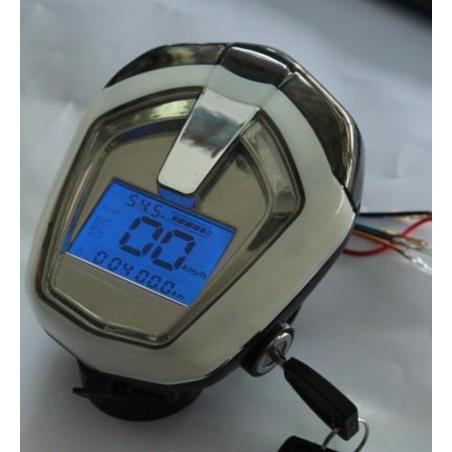 Дисплей 48v 13с (54,6v) (ПРИБОРНАЯ ПАНЕЛЬ) + Фара+ Сигнал + Ключ вкл, для электровелосипеда, электросамоката.