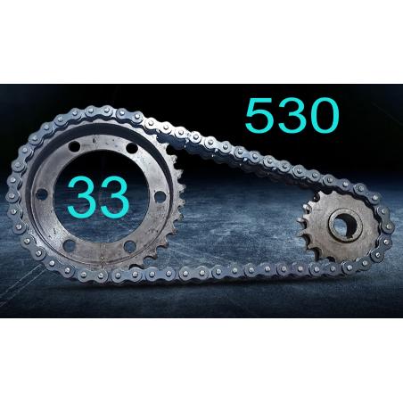 Цепная передача- тип двухрядный 530/ 33 зуба- 13зуб