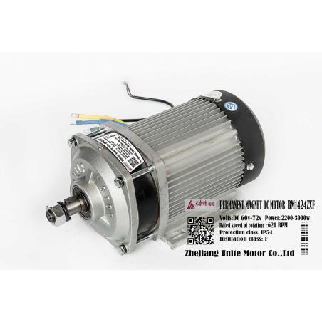 Набор электромотор BM1424ZXF 2200-3000w  + контроллер 3000w 60v-72v, для электротранспорта.