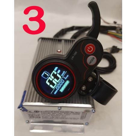 Cинусный контроллер XZ-2000\63, 48-36 вольт, 2000 ватт, 65 ампера. + LCD LH100 дисплей