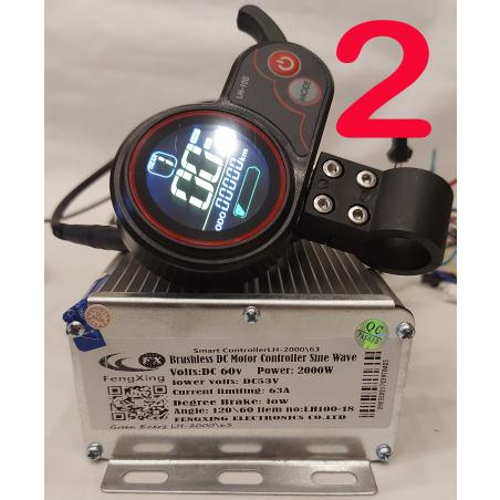 Cинусный контроллер XZ-2000\63, 60 вольт, 2000 ватт, 63 ампера. + LCD LH100