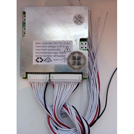 BMS 24 серия, 72 вольт; 45 ампер LiFePO4 с LED диодами для литий-железо-фосфатных аккумуляторов