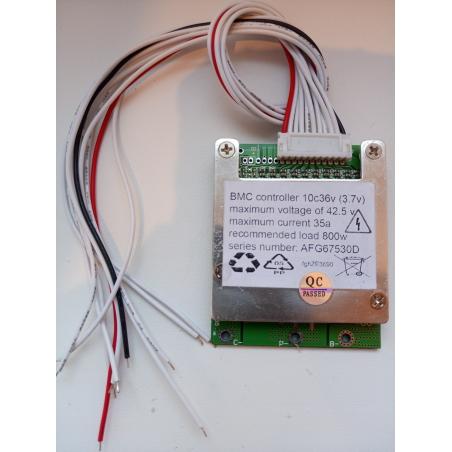 BMS10; серия 36 вольт; 35 ампер  для Li-on, Li-pol аккумуляторов