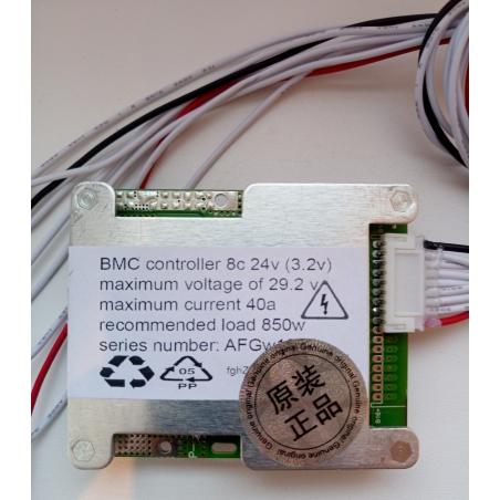 BMS 8 серия; 24v до 45а LiFePO4 для литий-железо-фосфатных аккумуляторов