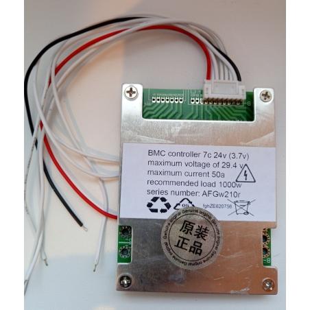 BMS 7серия; 24 вольт, 50 ампер для Li-on, Li-pol аккумуляторов