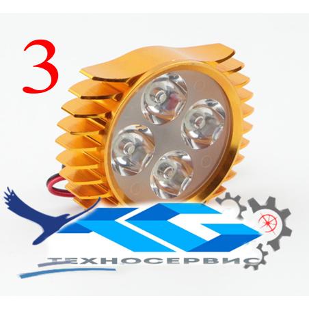 Фара. Прожектор-мини построен из 4 -очень ярких Led чипов, для электровелосипеда, электросамоката, электроскутера