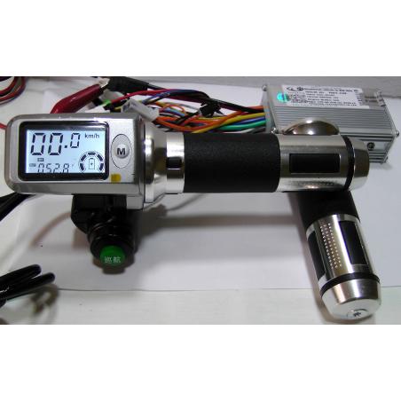 Контроллер Ai-500\18\100-18 ;60 вольт,500 ватт+ Led монохромный дисплей ручка газа для  электровелосипедов, электросамокатов