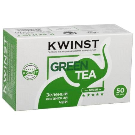 Чай KWINST зеленый чай, 50 пакетиков
