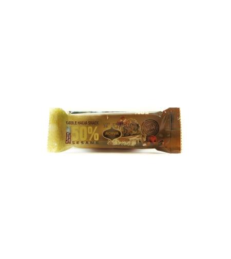 Халва ванильная  с шоколадом батончик