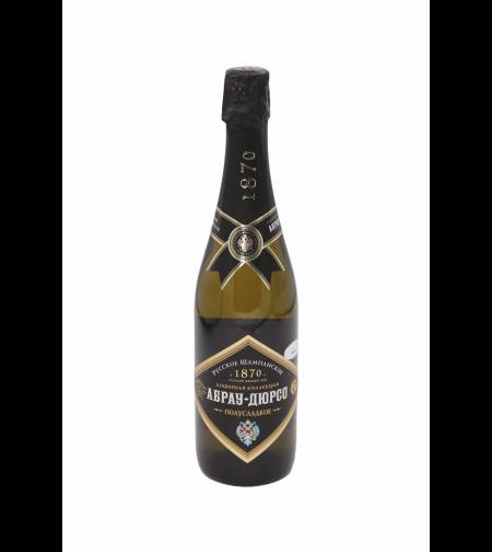 Российское шампанское полусладкое белое 'Абрау-Дюрсо'  0,75 л.