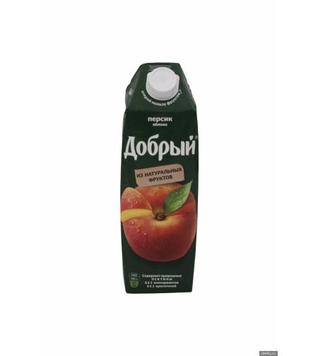 Сок персик-яблоко 'Добрый' 1л.