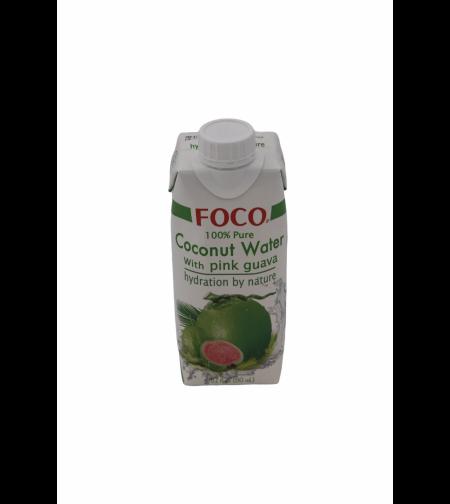 Кокосовая вода c розовой гуавой 'FOCO' 330 мл.