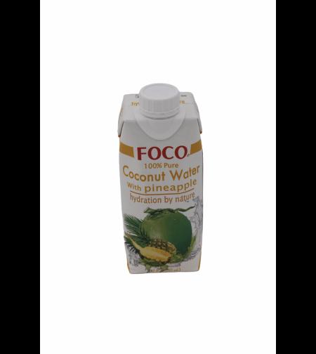 Кокосовая вода c соком ананаса 'FOCO' 330 мл.