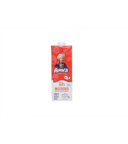 Молоко 'Амка' 3,2 % 975 мл.