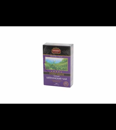 Чай чёрный цейлонский Супер Пекое 100 гр 'Kwinst'