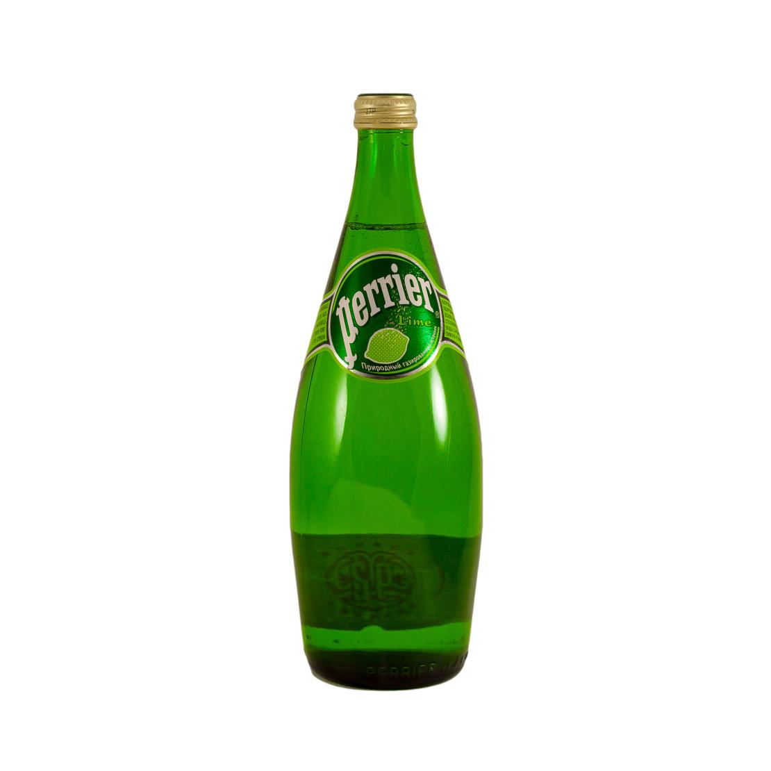Вода Perrier минеральная сильногазированная со вкусом лайма, 0,33л