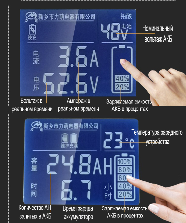 Smart charging 10с LiIon 36V (42.0v) 3.6a зарядное устройство  литиевых АКБ дляэлектросамокатов