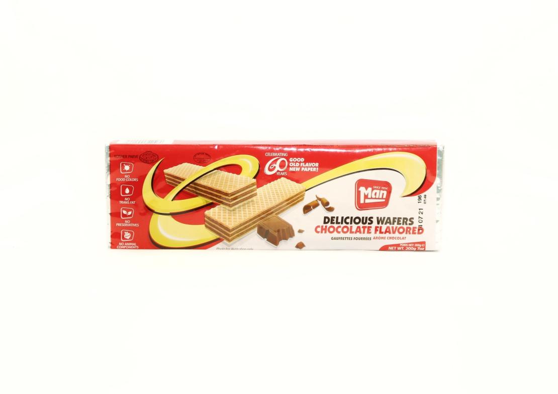 Вафли шоколадные 'Man' 200 гр