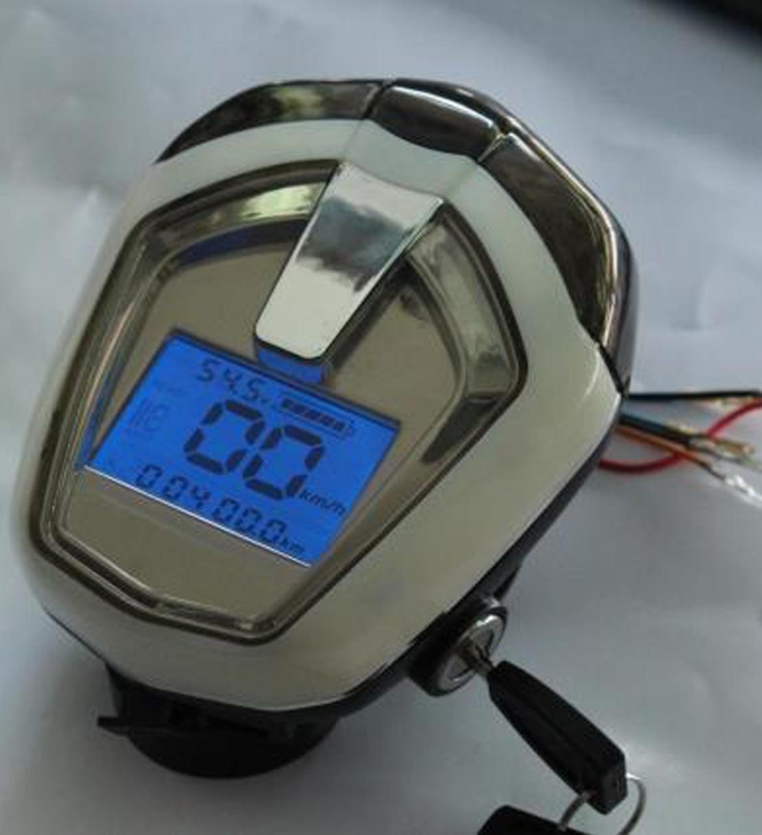 Дисплей 48v 16c (LiFePo4 58.4v)  ПРИБОРНАЯ ПАНЕЛЬ + Фара+ Сигнал + Ключ вкл, для электровелосипеда, электросамоката.